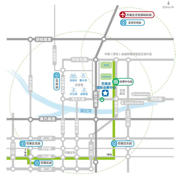 石家庄市区路线图